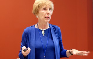 Dr. Lois Baldwin, leading the professional track.